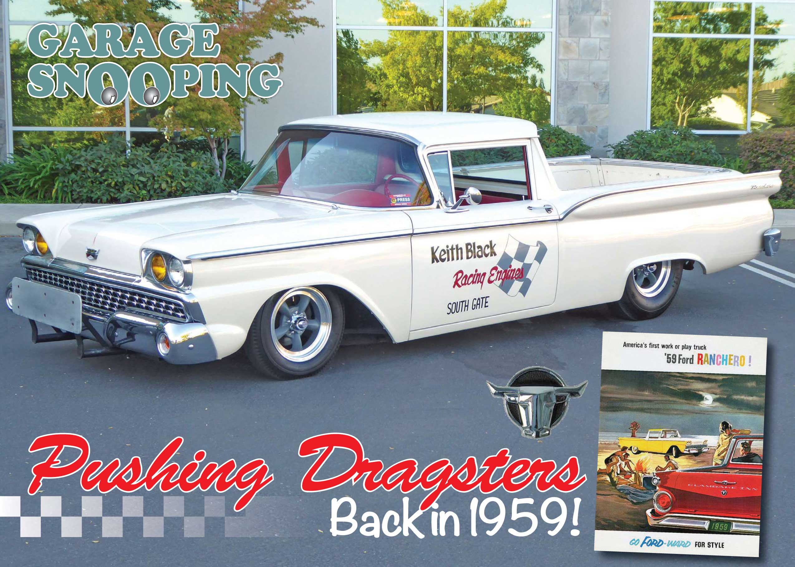 Garage snooping pushing dragsters back in 1959 cruisin for Garage ford 59